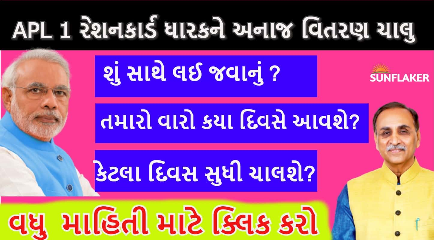 Goverment Of Gujarat Provide Free Ration to APL Families